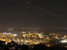 יירוט טיל בעזרת כיפת ברזל ב'צוק איתן' [צילום: נתי שוחט/פלאש 90]