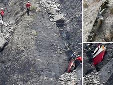 שרידי מטוס ג'רמן ווינגס באלפים [צילום: AP]