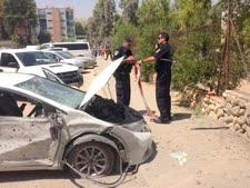 פגיעה בבאר שבע [צילום: משטרת ישראל]