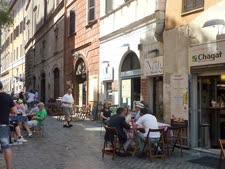 הרחוב הראשי בגטו ברומא [צילום: מיכאל טוכפלד]