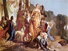 בת פרעה מוצאת את משה [צילום: ציור: ג'ובאני בטיסטה]