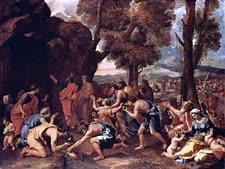 משה מכה בסלע [צילום:  ניקולא פוסן]