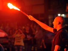 """מפלגת """"השחר המוזהב"""" הניאו-נאצית ביוון [צילום: AP]"""