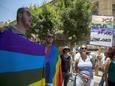 הפגנת הקהילה הגאה בי-ם בעקבות הרצח[צילום: יונתן סינדל / פלאש 90]