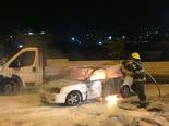הרכב השרוף [צילום: סלימאן ח'אדר/פלאש 90]