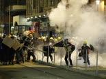 המהומות אמש בהונג-קונג [צילום: וינסנט יו, AP]