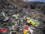 שברי מטוס אתיופיאן איירליינס [צילום: AP]