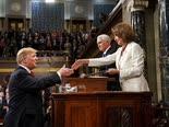 טראמפ ופלוסי. הסכם עקרוני [צילום: AP]