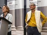 מייקל קרמר ואסתר דופלו [צילום: מישל דוייר/AP]