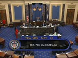 אישור חבילת הסיוע בסנאט, מארס 2020 [צילום: AP]