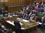 ג'ונסון אמש בפרלמנט [צילום: AP]