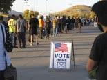 ההצבעה בנבאדה, נובמבר 2020 [צילום: סקוט סונר, AP]