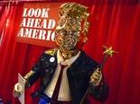 פסלו של טראמפ בוועידת השמרניפ [צילום: ג'ון רו, AP]