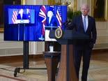 ביידן וראשי ממשלות בריטניה ואוסטרליה [צילום: אנדרו הרניק, AP]