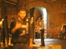 שער האריות לאחר פיגוע הירי שביצע אבו סנינה [פלאש 90]