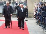 """ריבלין ונשיא צ'כיה מילוש זמאן [צילום: מארק ניימן, לע""""מ]"""