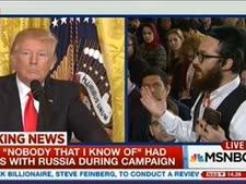 טראמפ וטרקס, אתמול בבית הלבן [צילום: מן הטלוויזיה]