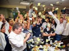 חגיגות במטה יונה יהב בחיפה [צילום: פלאש 90]