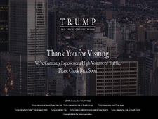 הודעה באתר רשת מלונות טראמפ[צילום: צילום מסך]