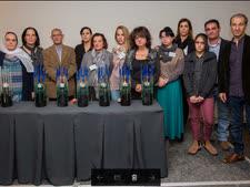 מדליקי הנרות בטקס הזכרון לנרצחים [צילום: ארז שחם]