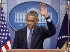 ברק אובמה נפרד לשלום [צילום: AP Photo/Pablo Martinez Monsivais]