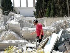 בית בשבי שומרון שנהרס בעקבות ההקפאה [צילום: פלאש 90]
