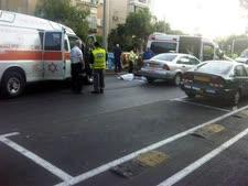 זירת התאונה [צילום: יהודה הילדסהיים/חדשות 24]