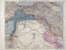 המפה המקורית של הסכם סייקס פיקו