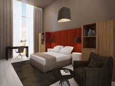 סימולציה של חדר במלון ברעננה