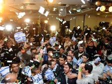 חגיגות הניצחון של מפלגת הבית היהודי [צילום: פלאש 90]