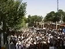 ההמונים בהפגנה באיספהאן [צילום: מן הטלוויזיה]