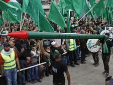 היום. עצרת חמאס בעיר שכם  [צילום: נאסר אישתאיה/פלאש 90]