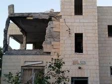 הדירה לאחר הפיצוץ המבוקר