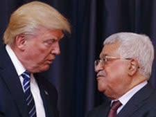 """נשיא ארה""""ב ויו""""ר הרשות הפלשתינית [צילום: אוואן ווצ'י/AP]"""