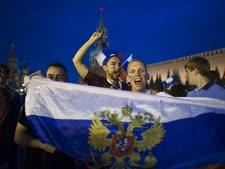 אוהדים רוסים במונדיאל [צילום: אלכסנדר זמליינצ'קו, AP]