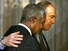 קופי אנאן עם אהוד אולמרט[צילום: עודד בליטי/AP]