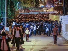 הפגנה בבני ברק נגד העבודות [צילום: רועי עלימה, פלאש 90]