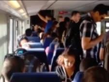 נוסעים ברכבת מנהריה