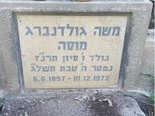 קברו של מוסה גולדנברג בבית העלמין בבית אלפא [צילום: אלי אלון]