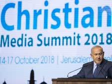 ראש הממשלה במפגש עם עיתונאים נוצרים [צילום: יונתן זינדל/פלאש 90]