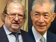 פרס נובל לרפואה. פרופ' ג'יימס אליסון ופרופ' טסוקו הונג'ו   [צילום: ריצ'רד דרו/AP]