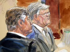 מנפורט (משמאל) בבית המשפט [צילום: AP]