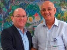 """ד""""ר נועם יהודאי עם ד""""ר אמנון רופא [צילום: אסנת זיבנברג]"""