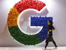 גוגל בתערוכה בשנגחאי [צילום: נג האן-גואן, AP]