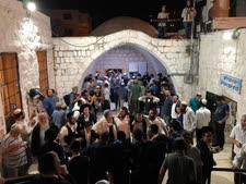 """מתחם קבר יוסף, הלילה [צילום: דובר צה""""ל]"""