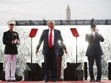 נאום נהדר ביום העצמאות [צילום: קרולין קסטר, AP]