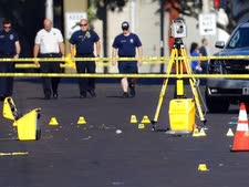 """זירית הירי באוהיו, ארה""""ב [צילום: ג'ון מינצ'ילו, AP]"""