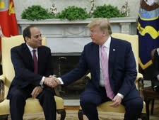 טראמפ וא-סיסי בפגישתם החודש [צילום: אוון ווצ'י, AP]