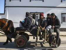 פליטים בדרך למעבר פזרקולה [צילום: אמרה גורל, AP]