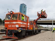 העבודות בתל אביב [צילום: רכבת ישראל]
